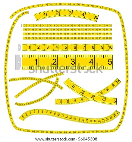 "Art Brush ""Measuring tape"" (see palette brush in file) - stock vector"