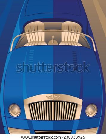 Art Deco Convertible - stock vector