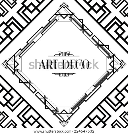 art deco gatsby style background - stock vector