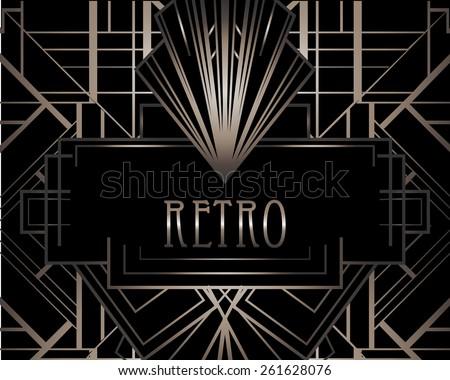 Art deco geometric pattern (1920's style)  - stock vector