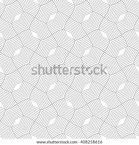 Art deco seamless pattern. Stylish modern geometric texture. Repeating polygonal shapes, lines, rhombuses. Vector abstract background - stock vector