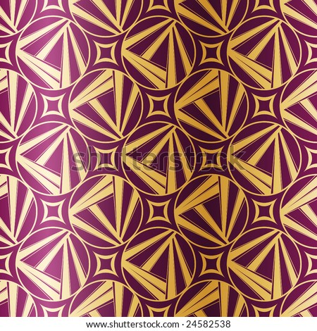 Art Deco seamless pattern (vector); a JPG version is also available - stock vector