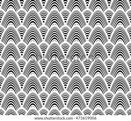 Art Deco Seamless Wallpaper Pattern Design In Black And White