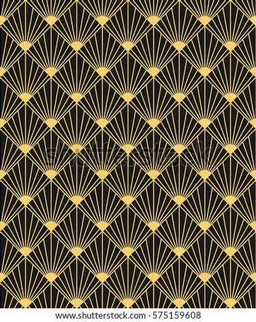 Art Deco Style Seamless Pattern Texture Stock Vector 575159608 ...