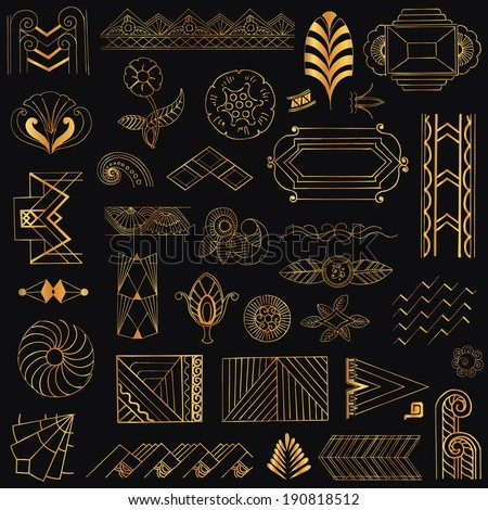 Art Deco Design Elements Vector