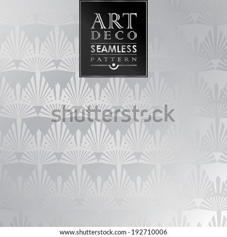 Art Deco vintage wallpaper pattern can be used for invitation, congratulation - stock vector