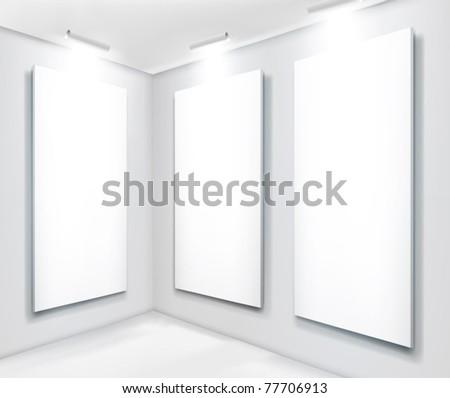 Art gallery - stock vector