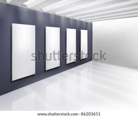 Art gallery. Vector illustration. - stock vector