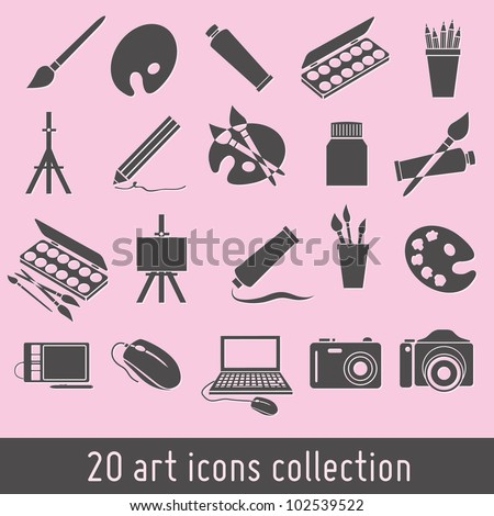 art icons collection - stock vector