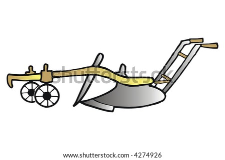 art illustration: an agricultural old tool