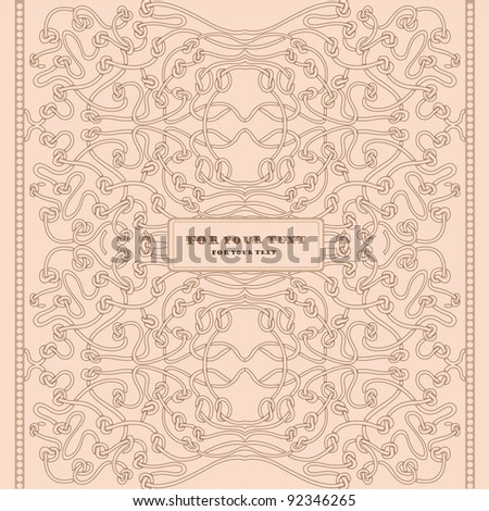 art nouveau background vintage - stock vector