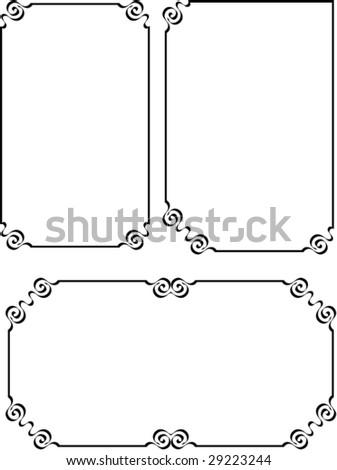 Art Nouveau, Border, Frame Design - stock vector
