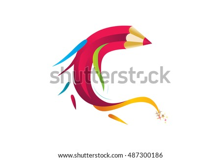 Art pencil cartoon vector illustration