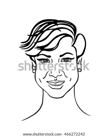 art sketching vector beautiful girl face symbols black and white