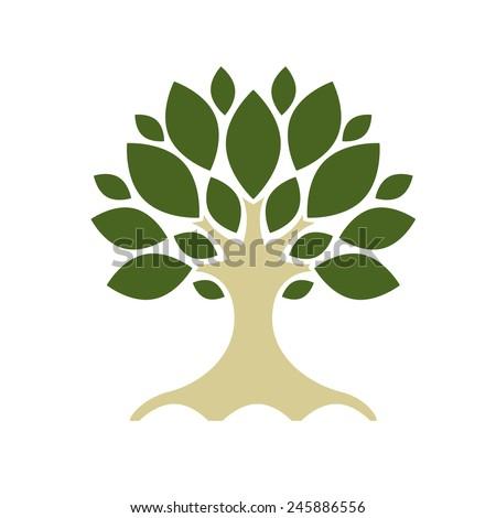 Art tree for your design. Vector illustration - stock vector