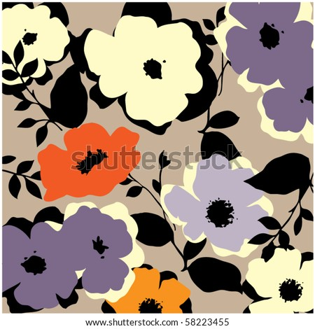art vintage floral background - stock vector