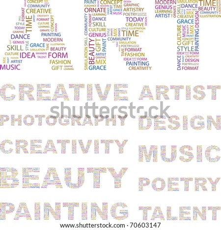 ART. Word association. Illustration with different association terms. - stock vector
