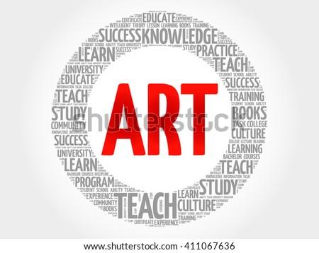 ART word cloud concept - stock vector