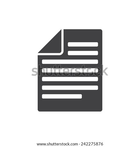 Articles, modern flat icon - stock vector