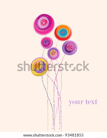 artificial flower illustration, free copy space - stock vector