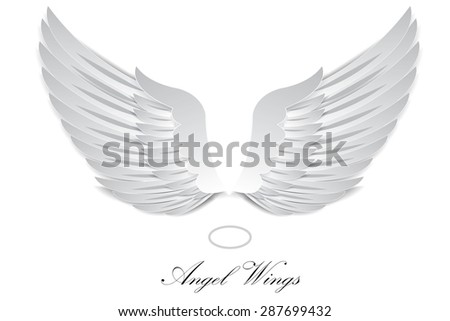 Artificial paper wings - vector illustration - stock vector