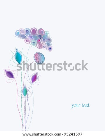 artificial pastel spring flower, free copy space - stock vector