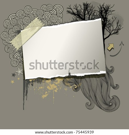 Artist Board, grunge background (layered) - stock vector
