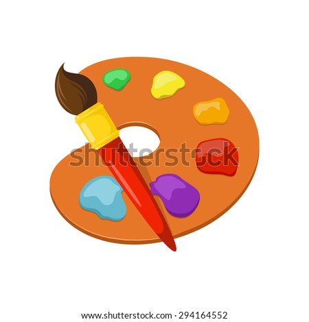 Artist palette. Isolated icon pictogram.  - stock vector
