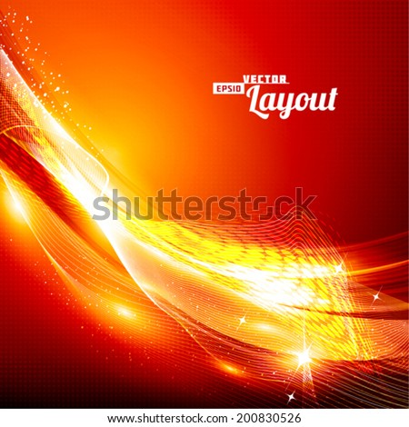 Artistic ardent background. The shiny invitation for your party. Vector - stock vector