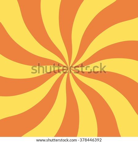 Artistic bright red color trendy sky midpoint shape crazy boom burn carnaval groovy line form tracery template. Fantasy glare fiery energy sign swirly retro style design. Wide view with space for text - stock vector