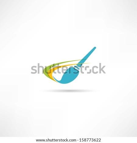 artistic brush icon - stock vector