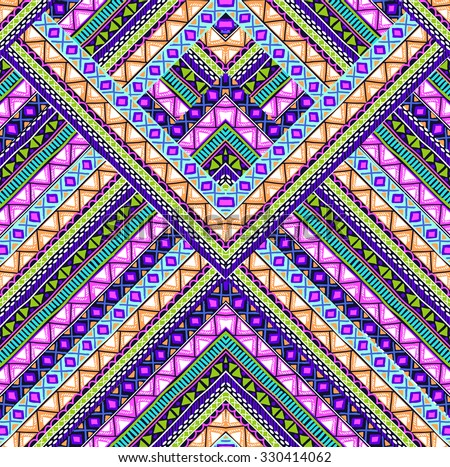 artistic chevron design ~ seamless background - stock vector