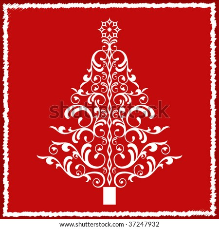 Artistic Christmas tree - stock vector