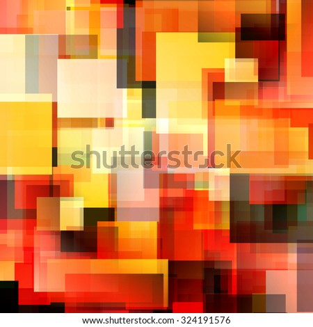 Artistic Color bright rectangle polygon background or frame. Colorful Abstract Geometrical Backdrop. Geometric design for business presentations or web template. sunny yellow red vector Illustration - stock vector