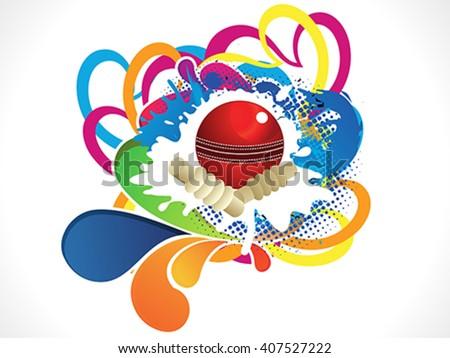 artistic colorful cricket ball vector illustration - stock vector