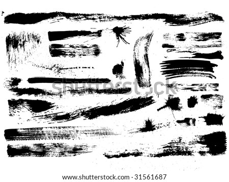 "artistic effect ""dry brush"", vector  without gradient - stock vector"