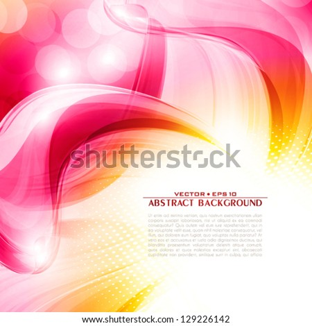 Artistic flower of your love. Vector - stock vector