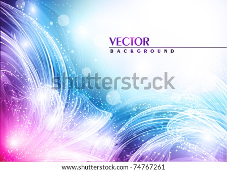 Artistic flowers of your love. Vector - stock vector
