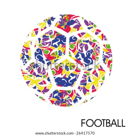 artistic football poster - stock vector