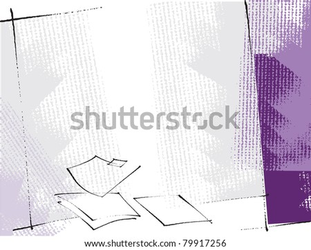 artistic freehand grunge background - stock vector