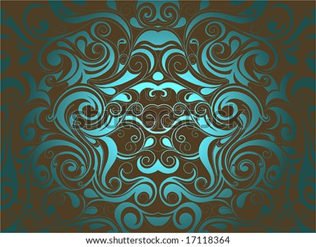 Artistic liquid swirls - stock vector