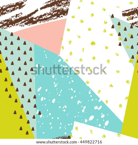 Artistic modern background. Graphic design for poster, card, invitation, placard, brochure, flyer, web or scrapbook, colorful illustration, Vector - stock vector