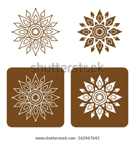 Artistic of traditional line thai Vector illustration. - stock vector