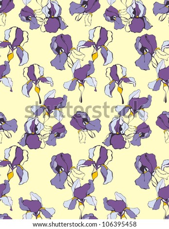 Artistic pattern decorative iris flower vector stock vector artistic pattern with decorative iris flower vector background pronofoot35fo Image collections