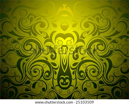 Artistic swirls - stock vector
