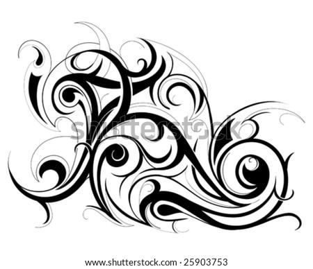 Artistic swirls - stock vector