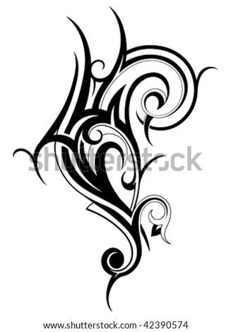 Artistic tribal shape - stock vector