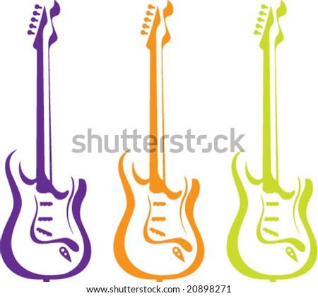 Artistic Vector Guitar - stock vector