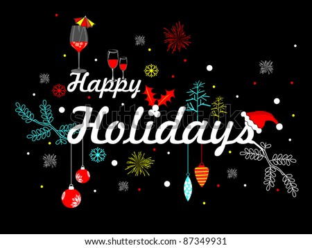 Artistic vector with party element for happy holiday - stock vector