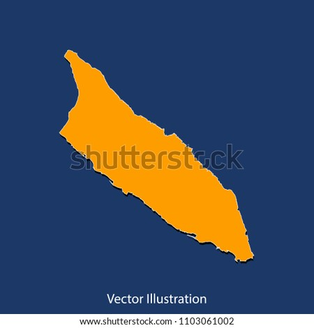 Aruba map high detailed color map stock vector 1103061002 shutterstock aruba map high detailed color map of aruba flat design style clean and sciox Images